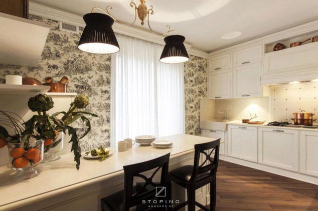 stopino villa motta visconti dettaglio penisola cucina