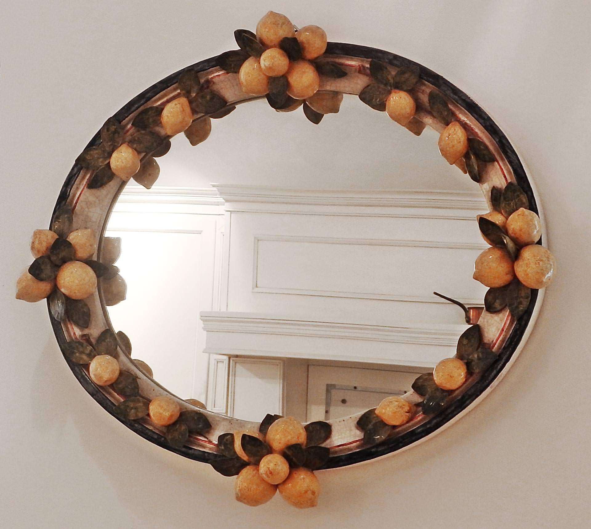 Specchiera in ceramica